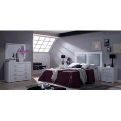 Dormitorio Completo. 2 plafones polipiel.