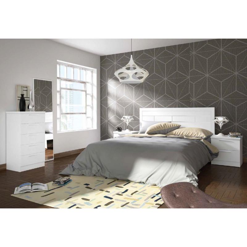Dormitorio completo cabecero 135 150 2 mesitas for Dormitorio completo