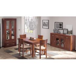 Conjunto Completo. Vitrina, apardor, mesa y 4 sillas. Madera.