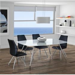 Mesa Comedor 180x100. Cristal blanco óptico.