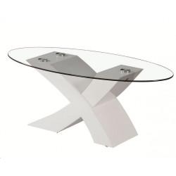 Mesa Centro 100x60 cm. Cristal Oval.