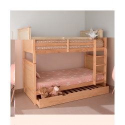 Litera convertible 2 camas + 1 cajón cama.