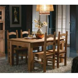 Conjunto Mesa Fija. 152 cm y 4 sillas