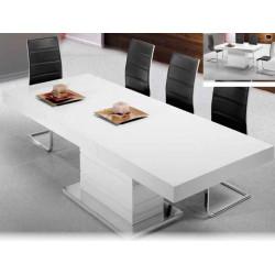 Mesa de comedor extensible. 150 (220) x 90 x 76 cm.