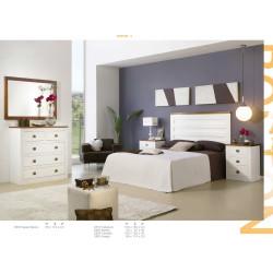 Dormitorio de Matrimonio. Madera. Lacado Blanco.