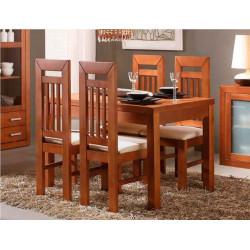 Conjunto mesa 140 Ext. y 4 sillas