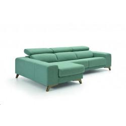 Sofá chaiselongue de diseño. Primera calidad.