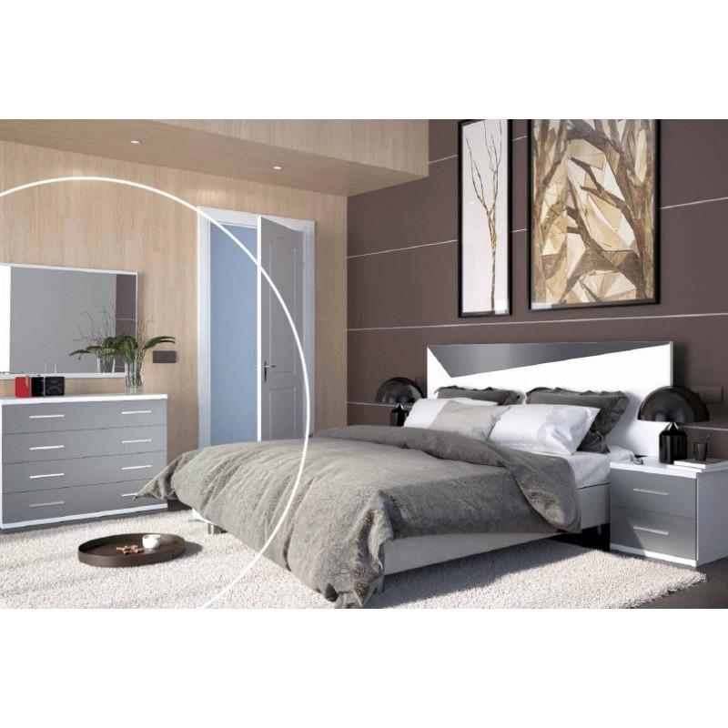 Comoda 4 c italia blanco gris 925 x 400 x 830 marco for Espejo marco gris