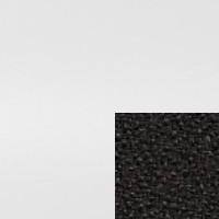 Blanco tapizado en Negro