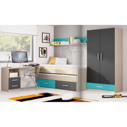 Dormitorio Juvenil. 246 cms x 297,8 cms.