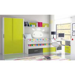 Dormitorio Juvenil. 355,2 cms.