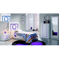 Dormitorio Juvenil Completo.Aqua. Lacado.