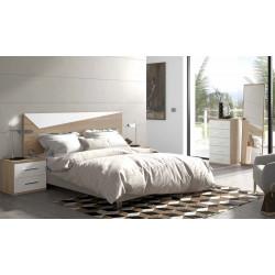Dormitorio completo. Cabecero 135/150, 2 mesitas, sinfonier y mural.
