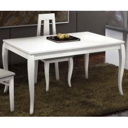 Mesa de comedor. 140 x 90. Fija.  Lacada Blanca.