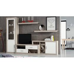 Mueble de salón. Composición de 2'80 extensible a 3'10 m.