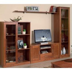 Mueble de salón de 260 cms. Madera Cerezo.