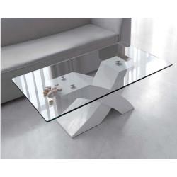Mesa Centro 100x60 cm. Cristal rectangular.