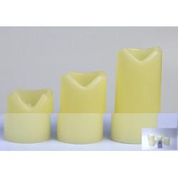 Set 3 velas LED con Mando a distancia