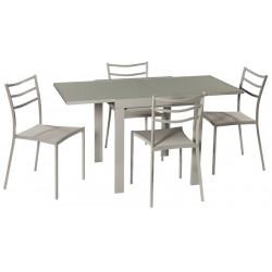 Set mesa y 4 sillas
