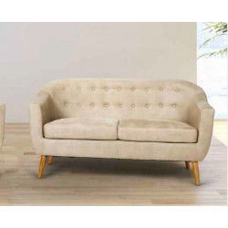 Sofá tapizados con tela tipo alca´ntara color BEIGE.