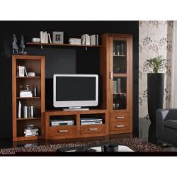 Composición mueble de Salón  232 cm estilo colonial