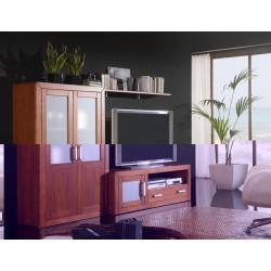 Composición mueble de Salón 250 cm estilo colonial