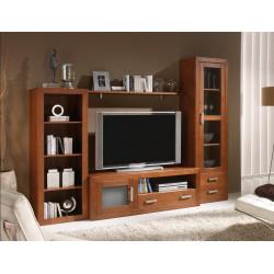 Composición mueble de Salón 262 cm estilo colonial