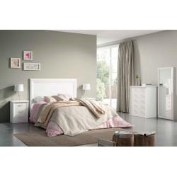 Dormitorio de Matrimonio. Blanco lacado o Nogal.