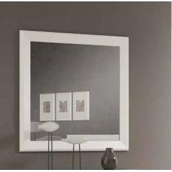 Marco con espejo. Blanco lacado o Nogal.