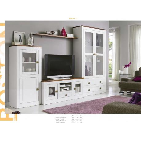Muebles Lacados Blanco Para Salon.Mueble De Salon 297cm Madera Lacado Blanco