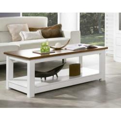 Mesa de centro 120x60 cm. Madera. Lacado Blanco.