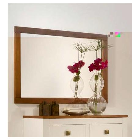 Espejo 80 x 110 x 2.5 cm. Madera. Nogal