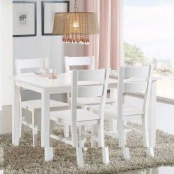 Conjunto Mesa 140 cm y 4 sillas
