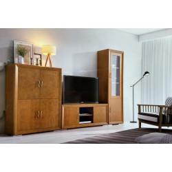 Mueble de Salón. 297 cm. Nogal.