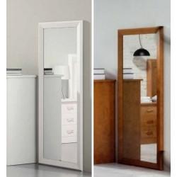 Espejo vestidor. Blanco lacado o Nogal.