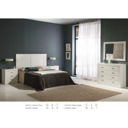 Dormitorio completo lacado en blanco.