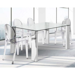 Mesa con patas en MDF. 150 x 90 x 76 cm.