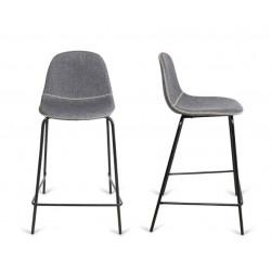 Taburete con asiento tapizado