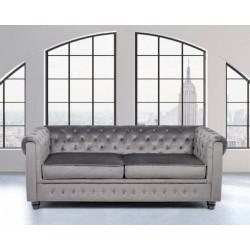 CHESTER Elegante sofá tapizado en tela Búfalo
