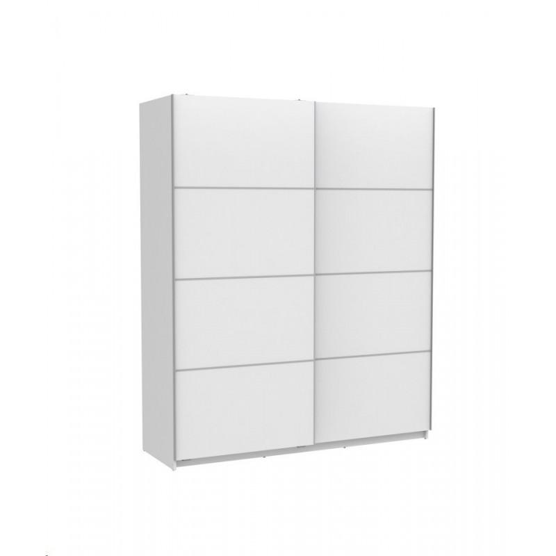 Armario 2 puertas correderas 180 blanco muebles tresilar for Armario blanco puerta corredera barato
