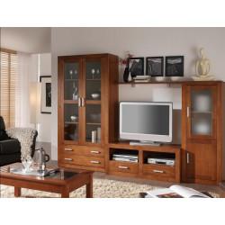 Composición mueble de Salón 276 cm estilo colonial