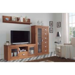Mueble de salón de Madera. 230 cm.