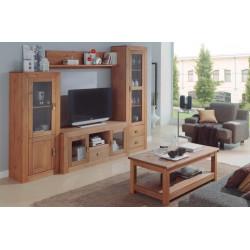 Mueble de salón de Madera. 258 cm.
