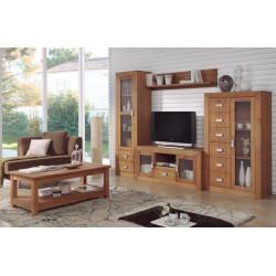Mueble de salón de Madera. 288 cm.