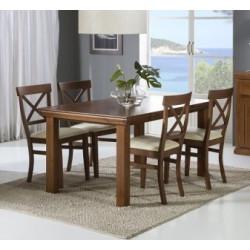Mesa comedor fija 150 x 90 cm.