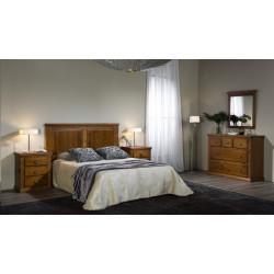 Dormitorio Matrimonio Mod. Malta madera maciza.