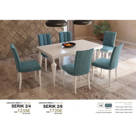 Conjunto Mesa con 4 o 6 sillas