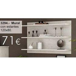 Mural con estantes 120 x 80 cm.