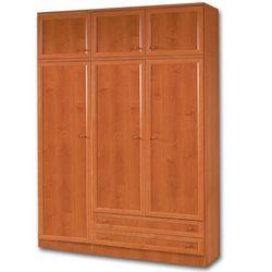 Armario 3 puertas con altillo. Enmarcado, color cerezo.