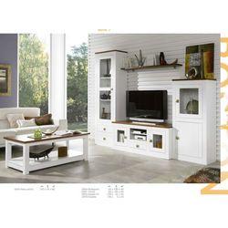 Mueble de Salón 250 cm. Madera. Lacado Blanco.